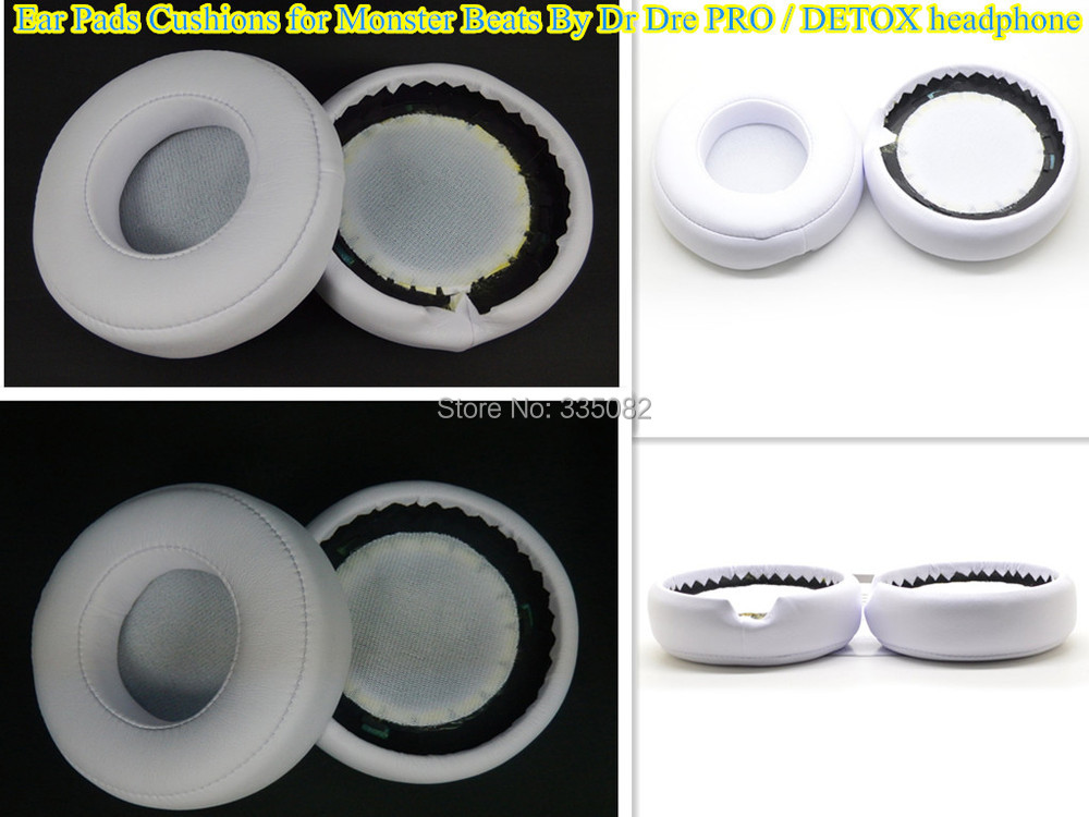 Replacement Ear Pads Cushions for Monster Beats By Dr Dre PRO / DETOX headphone(China (Mainland))