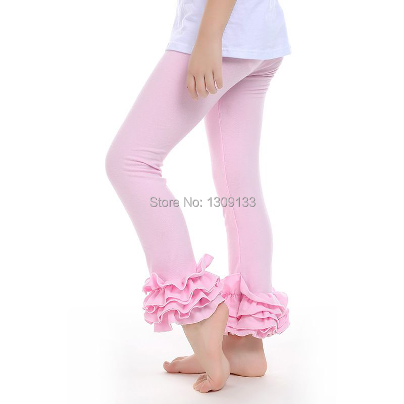 Adorable NEW 3T Double Ruffled Leggings Set Girls Pink Ruffles /& Roses Top