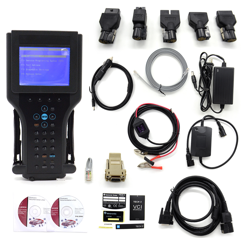 2016 Top Quality GM TECH2 Full Set Support 6 Software(GM,OPEL,SAAB ISUZU,SUZUKI,HOLDEN) GM Tech 2 Scanner + Candi Free Shipping(China (Mainland))