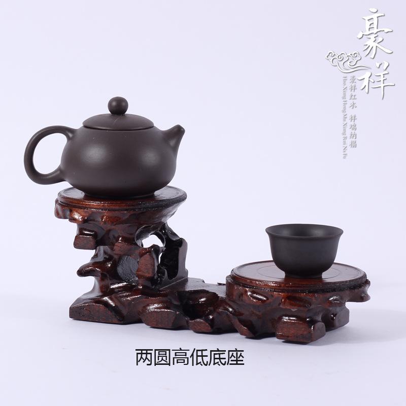Round mahogany base wood hardwood base level of jade ornaments crafts two round table height(China (Mainland))