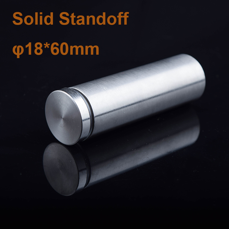 DHL Free Shipping Stainless Steel Solid Mirror Holder Standoff 18*60mm Glass Standoff Pin 50pcs/lot<br><br>Aliexpress