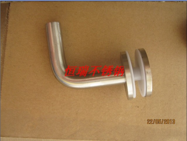 304 14mm solid    fitted shelf clamp shower door hinge
