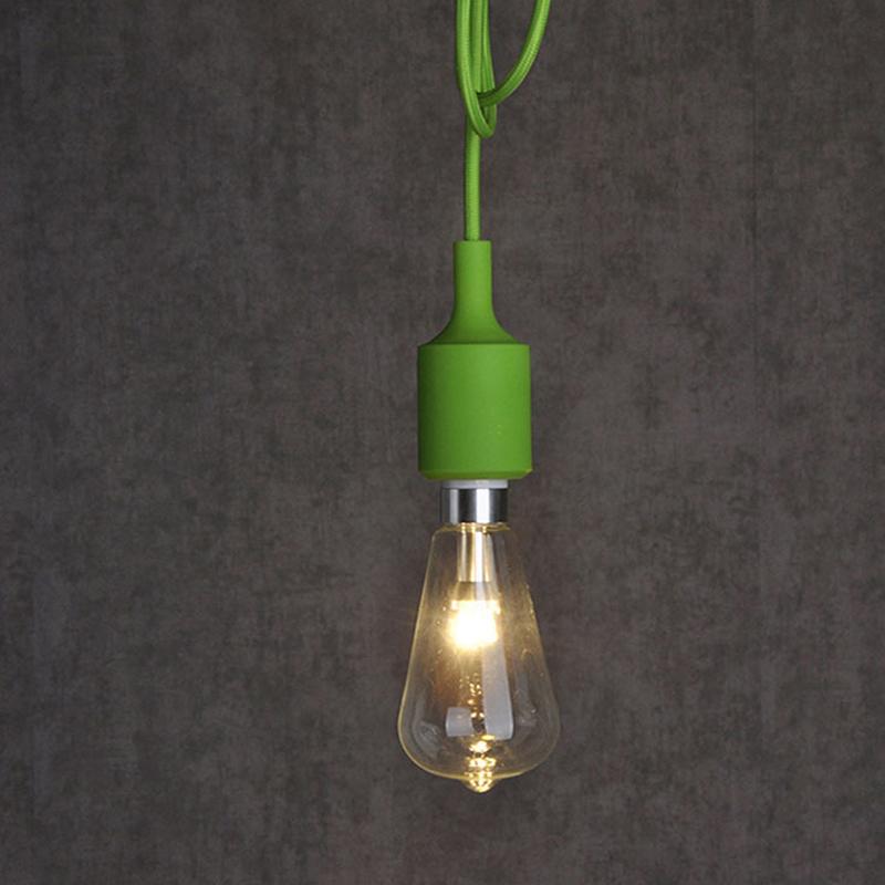 Colorful Silicone Pendant Lights Kitchen E27 Pendant Lamp
