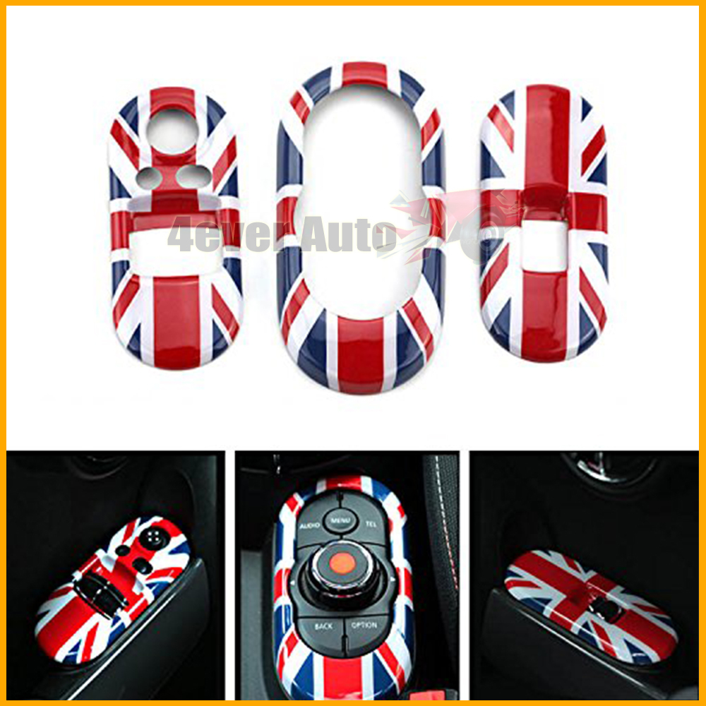 3pc Red Union Jack Side Door Power Window Switch &amp; Center Console Panel Covers For 3rd Gen MINI Cooper F56 2-Door<br><br>Aliexpress