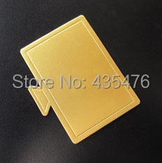 2014 New 200pcs/lot 10*7cm Gold Rectangle Cake Cardboard Base Disposable Mousse Paper Board Mat Tray Free Shipping(China (Mainland))