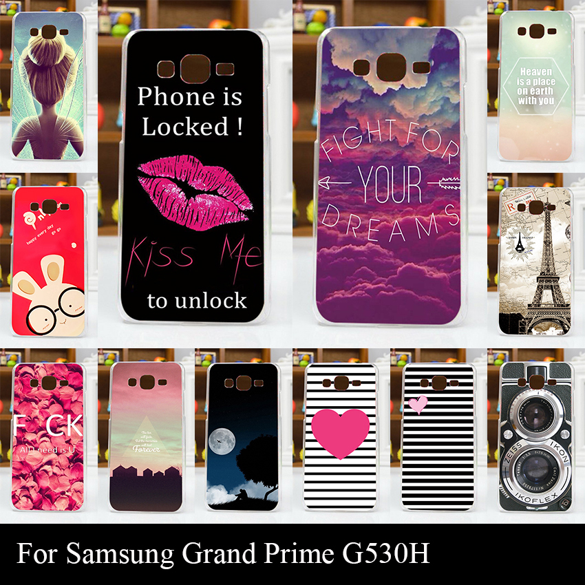 For Samsun Galaxy G530H G5308W Case Colorful Printing Drawing Transparent Plastic Mobile Phone Cover Hard Phone Cases(China (Mainland))