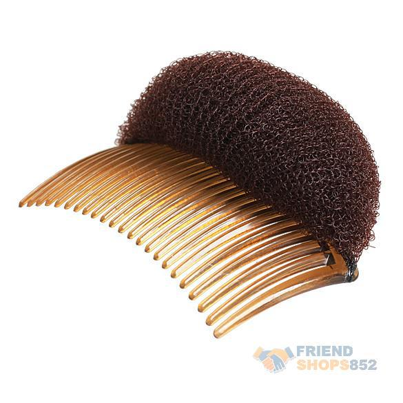 Ladies Hairstyle Bouffant Beehive Shaper Bumpits Foam On Comb Clip NewST1#(China (Mainland))