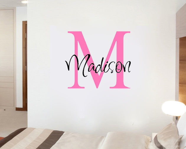 Word Wall Art Vinyl Lettering Home Decor ~ Custom personalized name girls boys say quote word