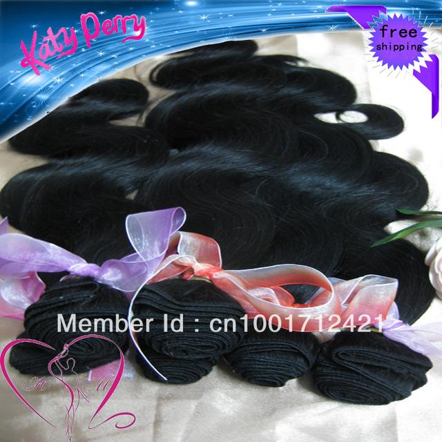 "10pcs10""-28"" body wave Brazilian Virgin Human Hair Extension  Hair Weave wholesale Natural Color Tangle Free"