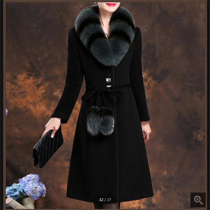 Купить пальто зимнее с меховым воротником длинное