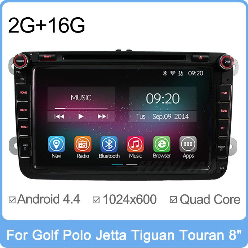 "8"" Quad Core Android 4.4.2 Car PC DVD GPS For Volkswagen VW Passat CC Golf Jetta Polo Tiguan Touran Bora caddy Skoda Radio Navi(China (Mainland))"