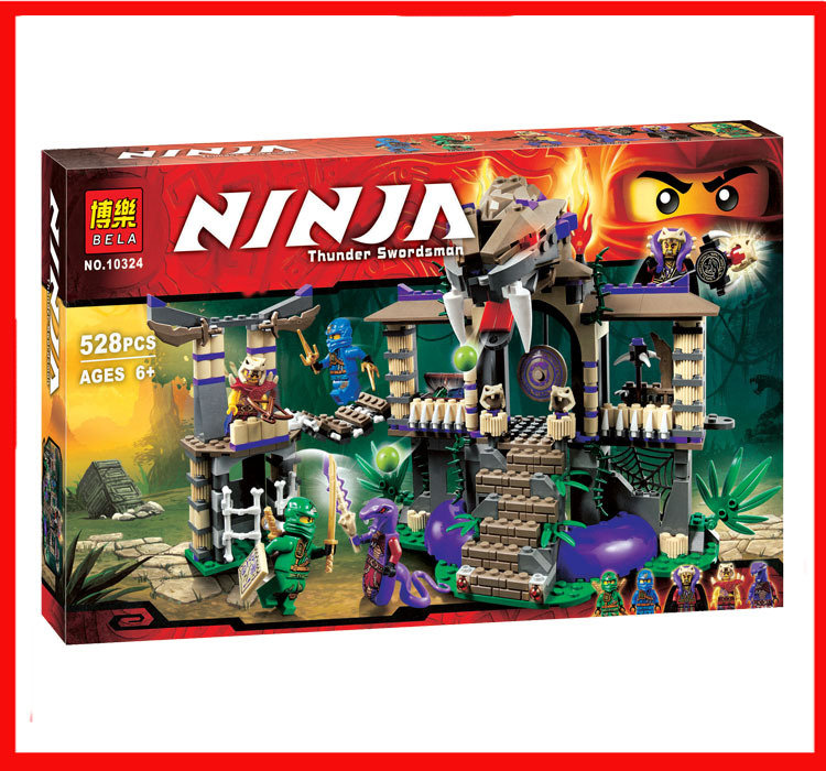 2016 NEW BELA Ninja series THE Enter the Serpent model building blocks Mini figures Classic Toys Holiday gifts Compatible 70749(China (Mainland))