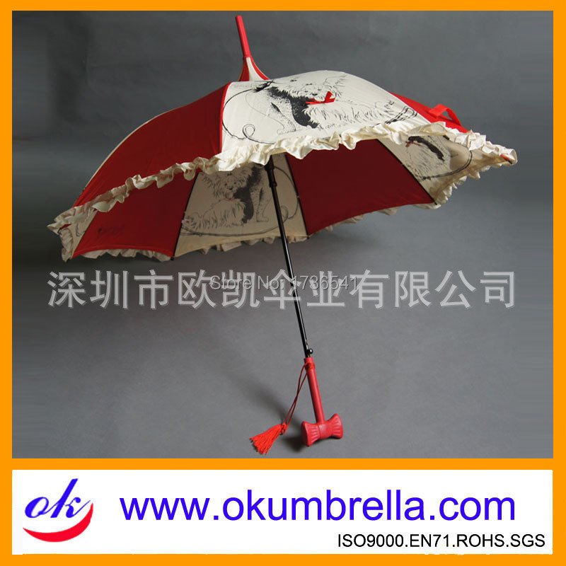 [Umbrella] made Oukai poodle pagoda umbrella lace umbrella umbrellas bow(China (Mainland))