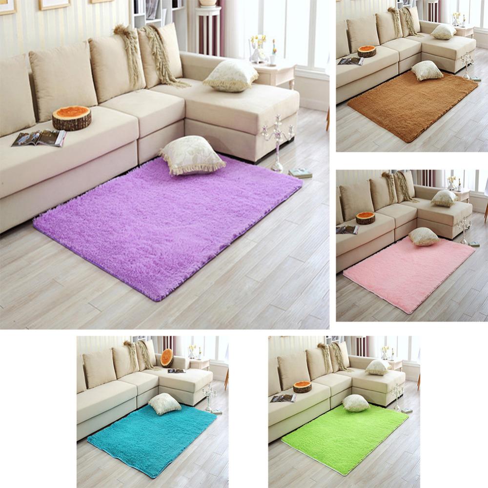 Mat For Home Parlor Bedroom Living Room Modern Long Plush Shaggy Soft Carpets Area Rug Slip Resistant Door Floor Carpet