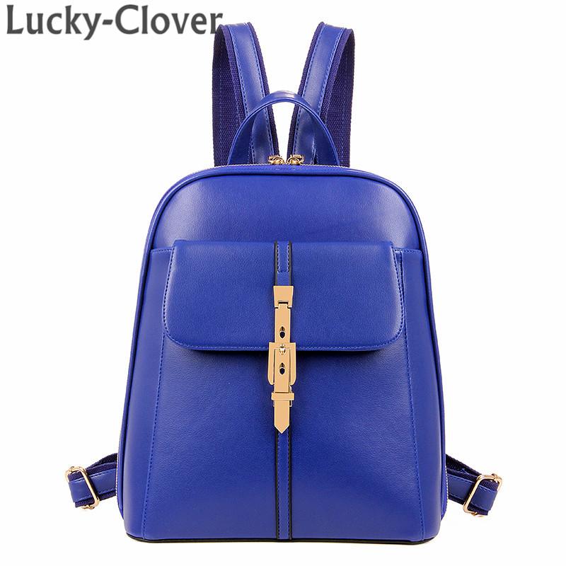 Британский стиль винтажный замок крючки женщины кожа рюкзак tidel путешествие на открытом воздухе подросток студент рюкзаки женское марка сумки