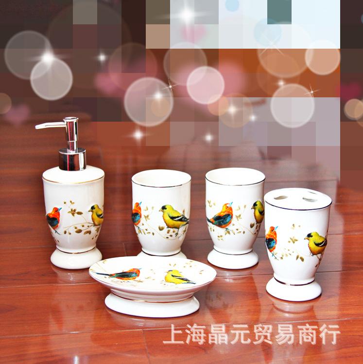 Buy look very happy ceramic five piece for Bathroom 5 piece set