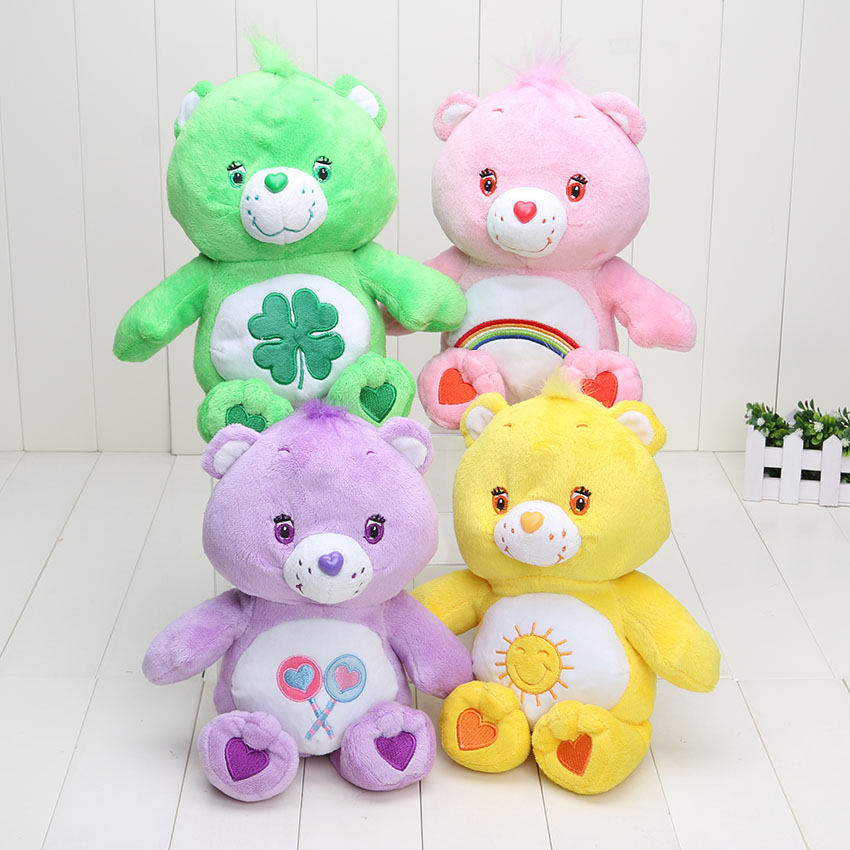 4colors 30cm Japanese care bears toy cute Soft Plush toys doll stuffed plush animals gift plush pillow baby teddy bear present(China (Mainland))