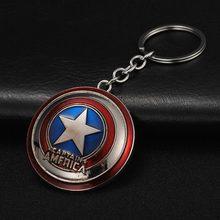 The Avengers Capitão América Escudo Brinquedo Homem De Ferro Marvel Superhero Hulk Spiderman Batman Keychain jóias Pingente De Metal Keychain(China)
