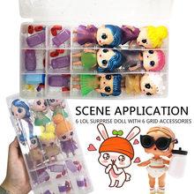 Brinquedo Linda boneca Artesanal 18 Compartimentos Caixa de Armazenamento Bolsa De Transporte Acessórios Para LOL Bonecas Brinquedos Do Bebê Melhor Presente Y11.27 Surpresas(China)
