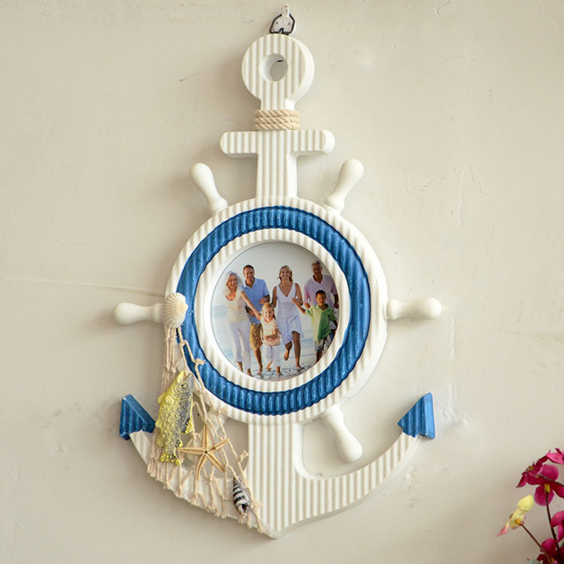 Wooden anchor mediterraneo vintage wall nautical home for Anchor decoration for the home