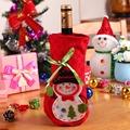 2pcs set Christmas Snowman Wine Bags Bottle Sets Cute Creative Christmas Decoration Dinner Table Wine Bottle