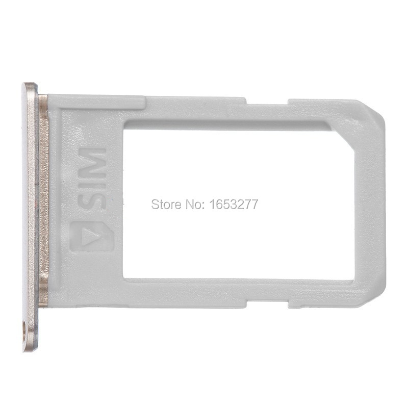 10 pieces/lot New Original Sim Card Tray For Samsung Galaxy S6 Edge Plus G928 Sim Card Tray Slot Holder Housing Parts grey gold