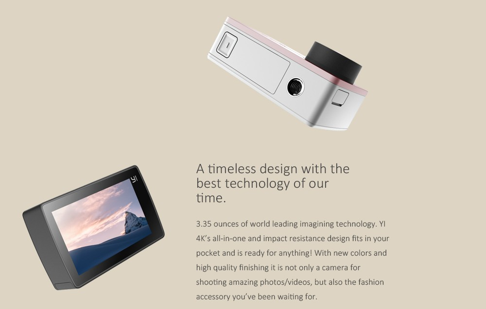 Original Xiaomi YI 4K Action Camera 2 II 2.19″ Retina Screen Ambarella A9SE75 XiaoYi 2 WiFi Sport DV International Edition