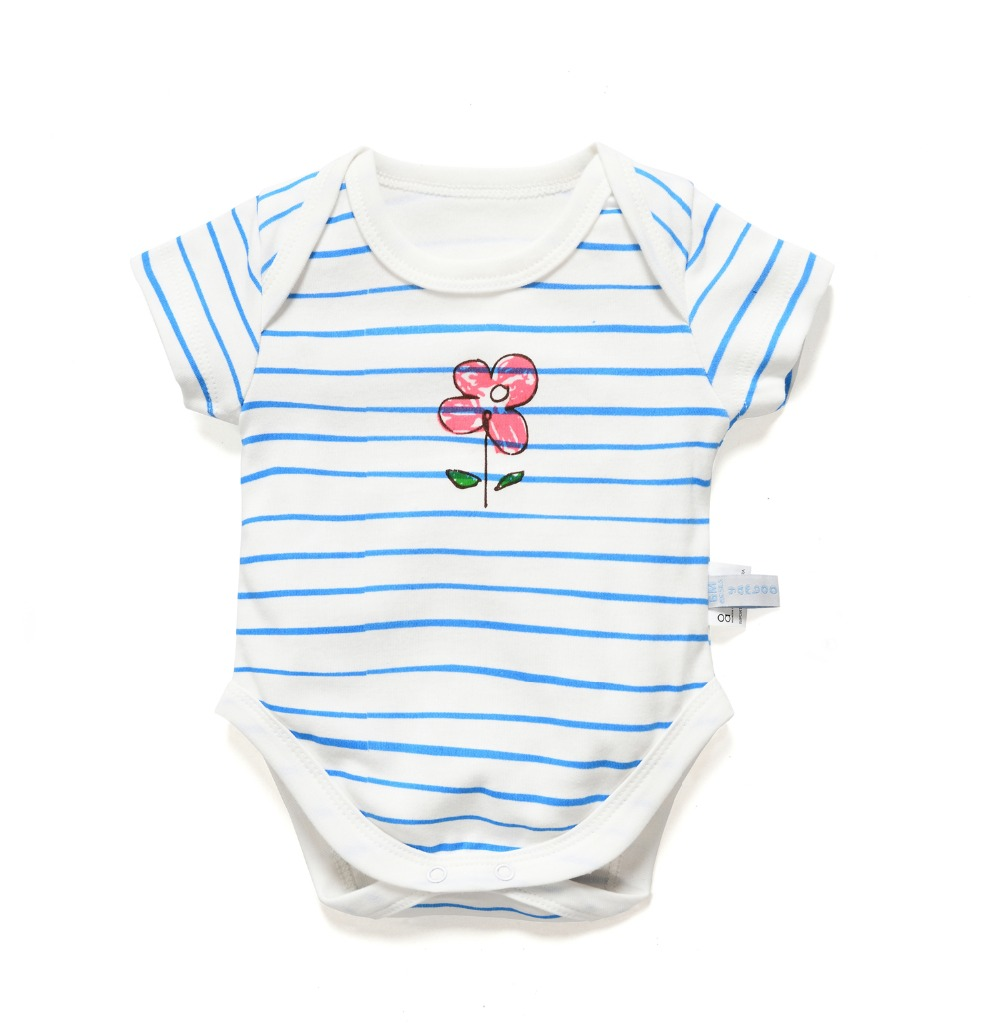baby bodysuit kids jumpsuit newborn baby clothes summer girl body toddler overalls unisex one piece boy babies flowers animals(China (Mainland))