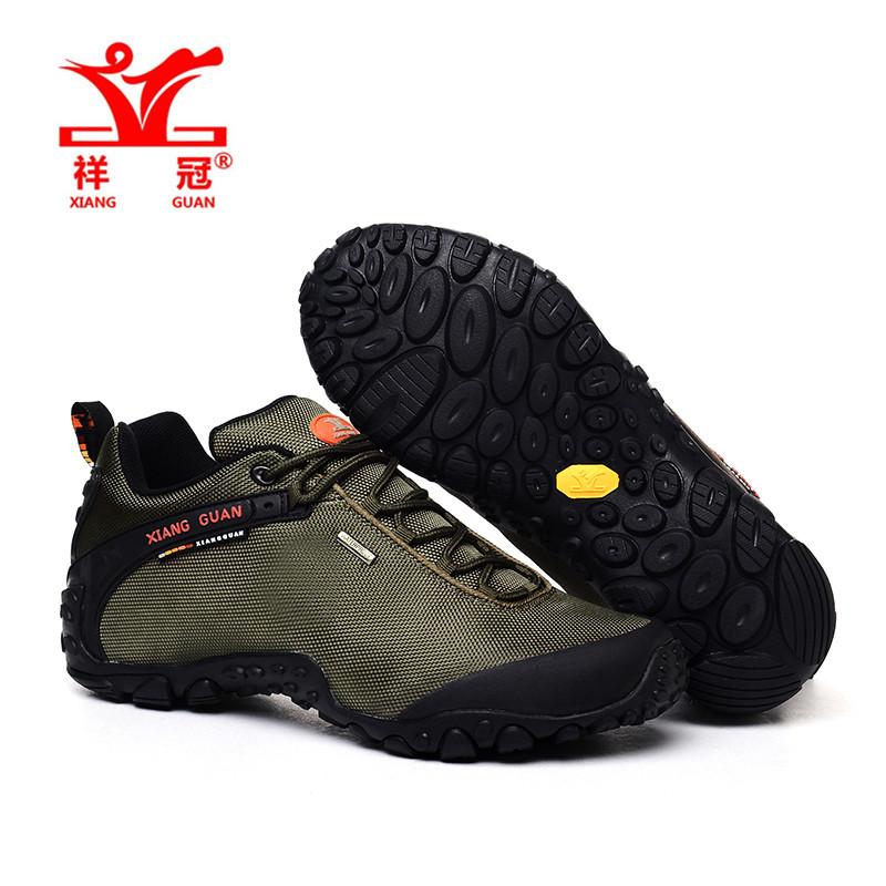 XiangGuan 2016 oxford fabric man army green outdoor sports shoes top quality fashion climbing sneakers free shipping