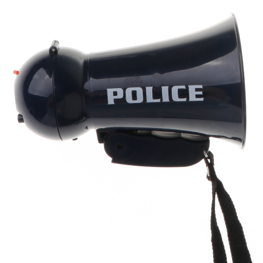9Pcs/ set Police Officer Set Kid Role Play Toy Megaphone w/ Siren Sounds Uniform Hat Handcuff Props Kit for Policeman Pretend