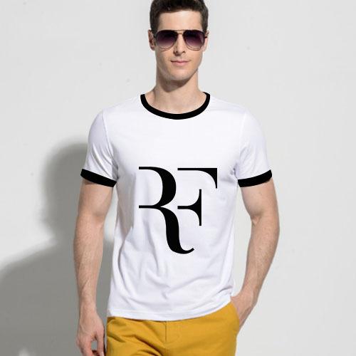 Brand Roger Federer RF t shirt Men Cotton O Neck Short Sleeves Eur Size Mens Shirt Wholesale Tops Free Shipping(China (Mainland))