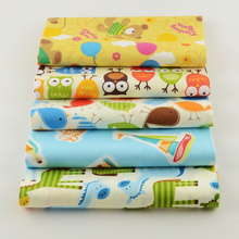 100% cotton fabric 40cmx50cm cartoon designs 5 pcs/lot  quilting patchwork crafts baby sewing clothes bedding home textile