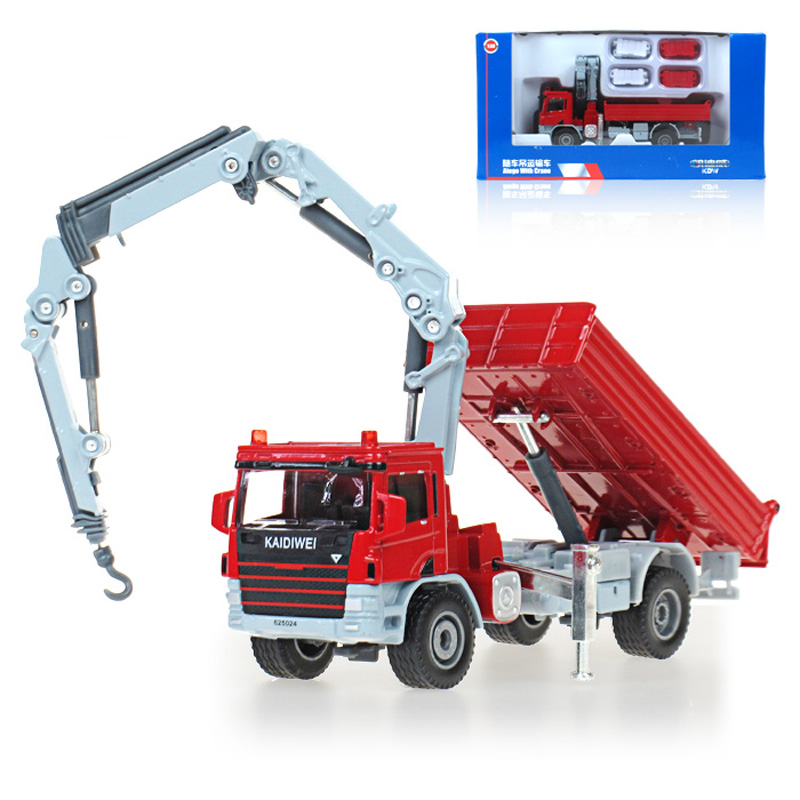 Diecast Toy Alloy Car Model For Kids Truck Model Cranes Crane Truck Classic Model Diecast Metal Car Toy 1 : 50(China (Mainland))
