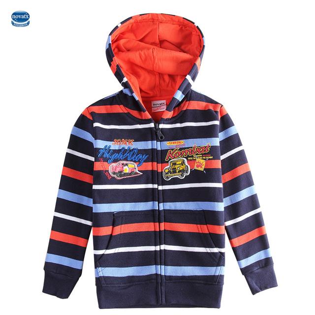 Novatx baby дети куртка для мальчиков полосатый пальто весна и осень детей толстовки печатных автомобили мальчиков одежда верхняя одежда A5991