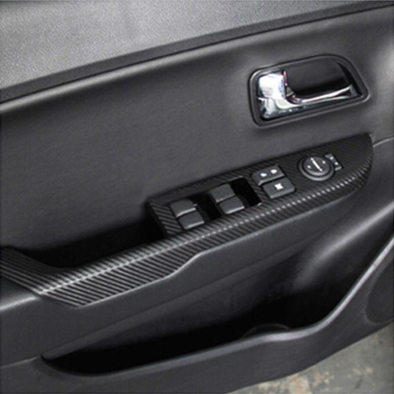 For KIA Rio K2 Car Cbaron Fiber Stickers Door Panel Armrest Sticker Auto Accessories(China (Mainland))