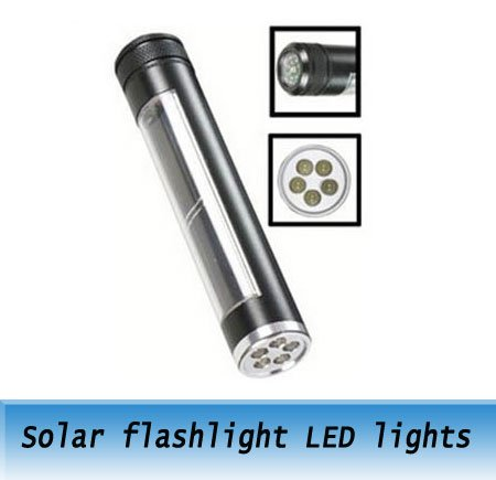Freeshipping 20pcs Solar flashlight LED camping light / outdoor essential goods rechargeable torch light(China (Mainland))