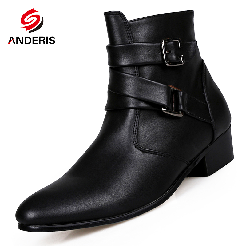 2016 new s ankle boots fashion buckle pointed toe