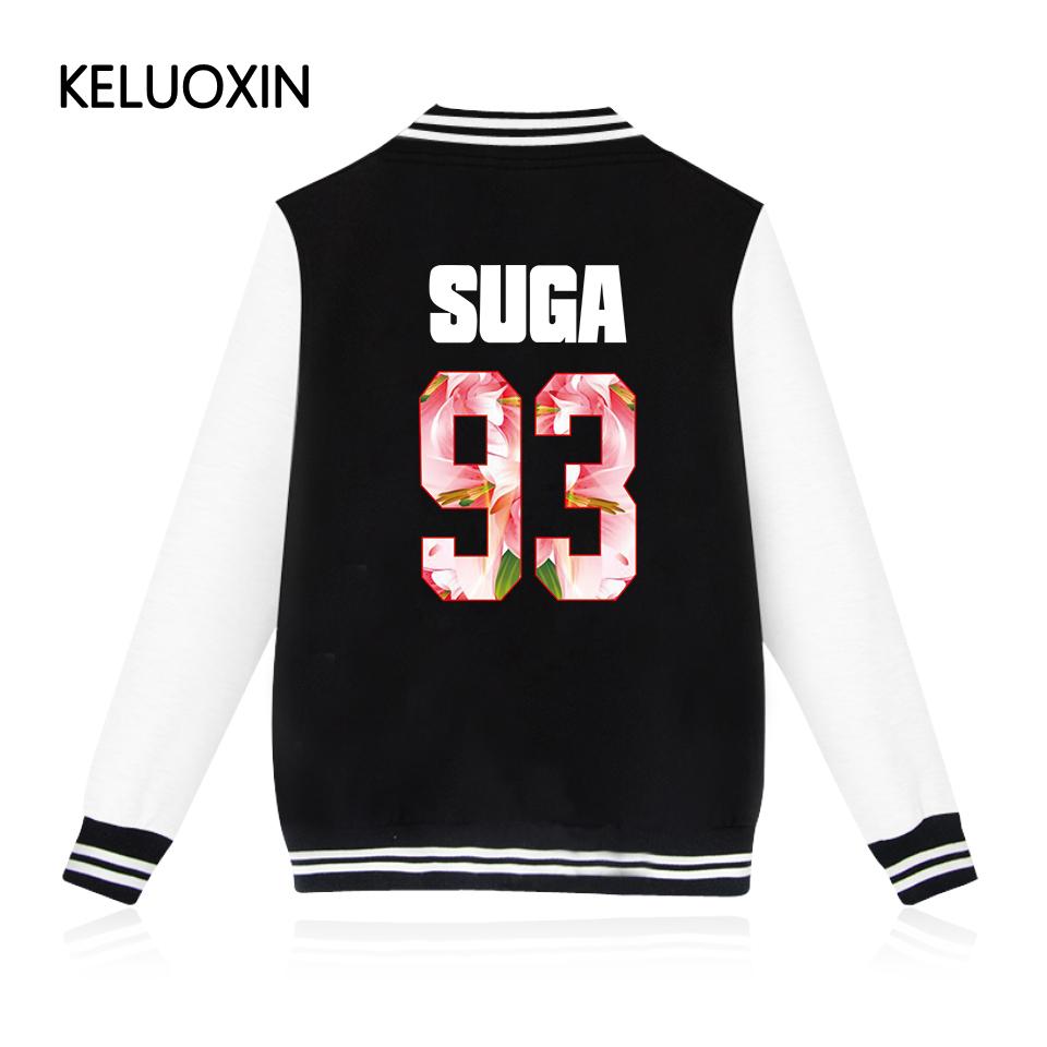 KELUOXIN 2017 New Arrivals EXO Kpop Zip-up Harajuku Hoodies Fans Supportive BTS Baseball Uniform Men Women Casual Sweatshirt 4XL(China (Mainland))