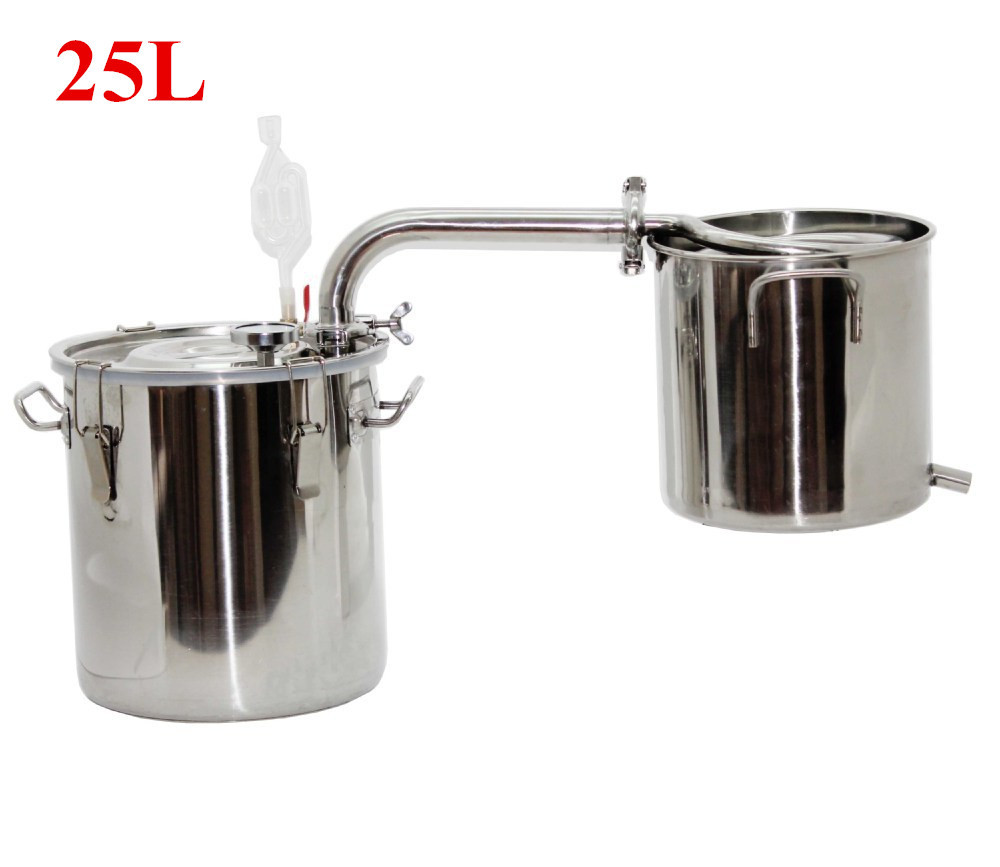 25L DIY Home Brewing Equipment Spiral Coil Of Small Steam Distillation Of Liquor Distilled Wine Moonshine(China (Mainland))