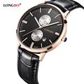 LONGBO Luxury Brand 2016 Leisure Sports Men Wrist Watch Couple Watch Military Quartz Leather Date Calendar
