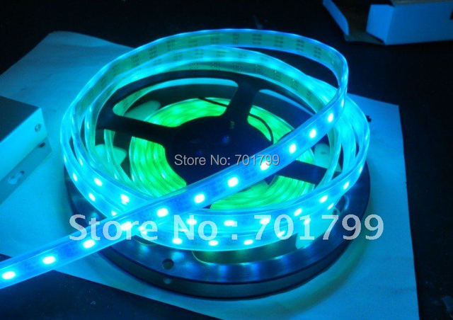 4m WS2811 LED digital strip,60leds/m with 60pcs WS2811 built-in the 5050 smd rgb led chip,waterproof in silicon tube,DC5V input