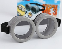 2015 MOQ 2pcs 3D minions glasses Despicable me 3D glasses Cosplay Cute Cartoon Toys Kid Birthday Gift(China (Mainland))