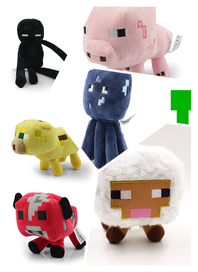 7pcs/set High Quality Minecraft Toys.13-26cm Cute Anime Doll.Plush Minecraft Plush Toys For Children,brinquedos(China (Mainland))