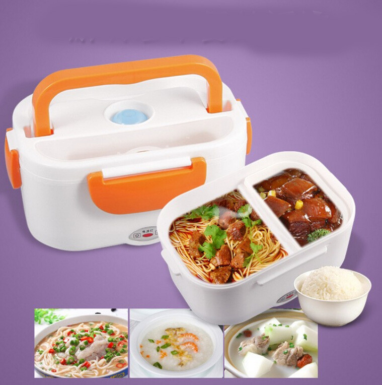 new portable electric heating heated lunch box compact food meal warmer bento. Black Bedroom Furniture Sets. Home Design Ideas