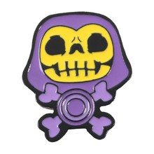 9 Gaya Skeletor Ungu Hood Enamel Pin Masters Of The Universe Lencana Bros Tas Pakaian Kerah Pin Kartun Klasik Perhiasan(China)