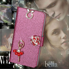 Buy Luxury PU Leather Wallet Case Alcatel One Touch Pop C5 Flip Cover Shining Crystal Bling Case Card Slot & Bling Diamond for $2.31 in AliExpress store