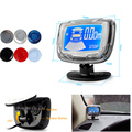 4 Sensors Buzzer LCD Digital Screen Monitor Parking Sensor Kit Display 22mm Car Reverse Radar Parking