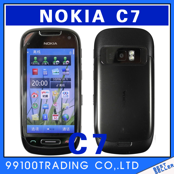 Nokia C7 3G WIFI GPS 8MP Bluetooth Java Unlock Cellphone Free Shipping Refurbished(China (Mainland))