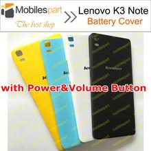 Lenovo K3 Note battery case 100% New original with Power&Volume Button battery Cover Case for Lenovo K3 Note K50-T5 free ship