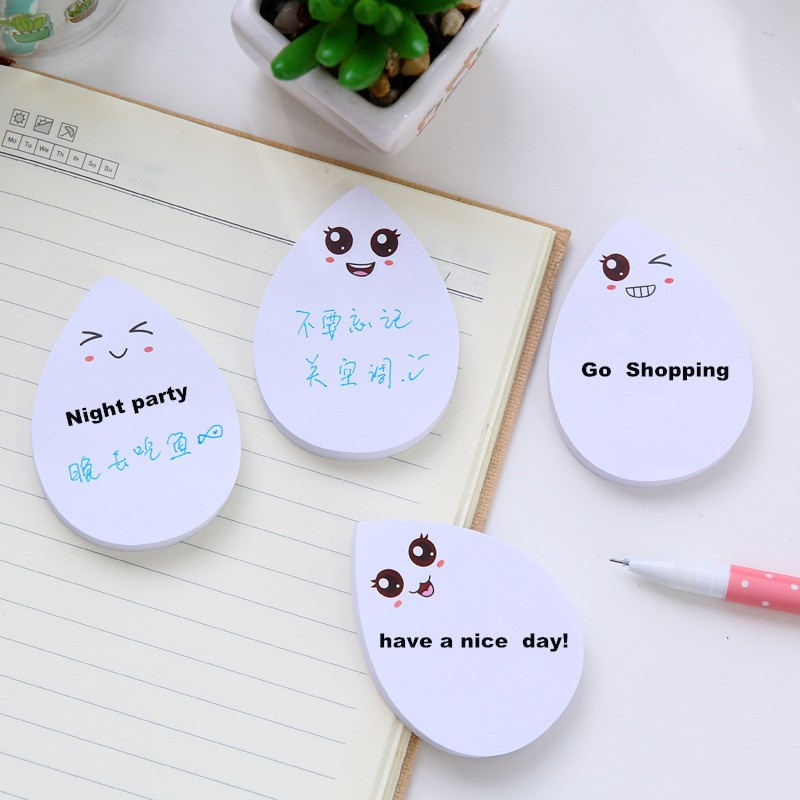 Sticky Notes Post it Kawaii Bloc de Notas Adhesivas Drop type Memo Pad Papel Adesivo Cute Stickers Planner cartoon Notepad 1 Pcs